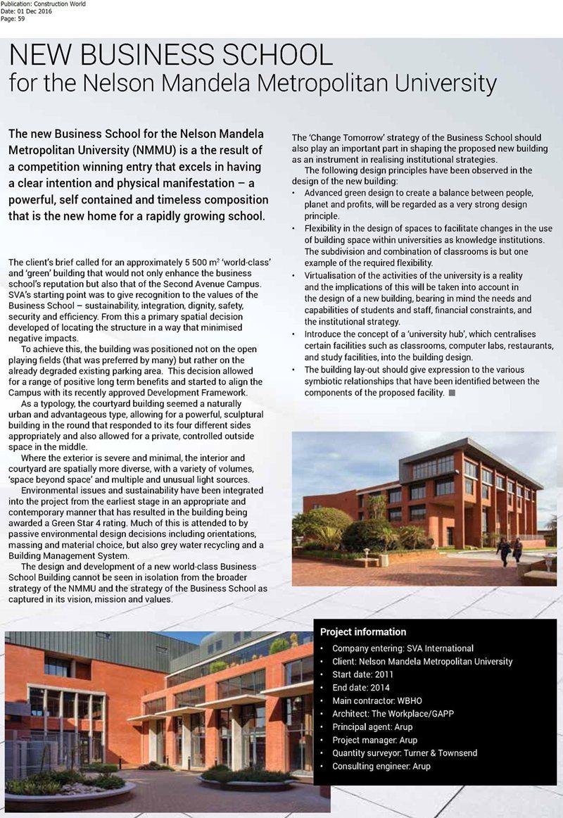 New business school for nelson mandela metropolitan - Nelson mandela university port elizabeth ...